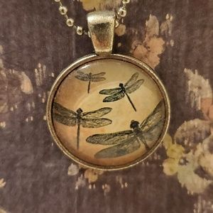 Jewelry - ♡2/$7 or 4/$10♡ Dragonfly Necklace 18 inch chain.